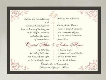 Bilingual wedding invitations english italian