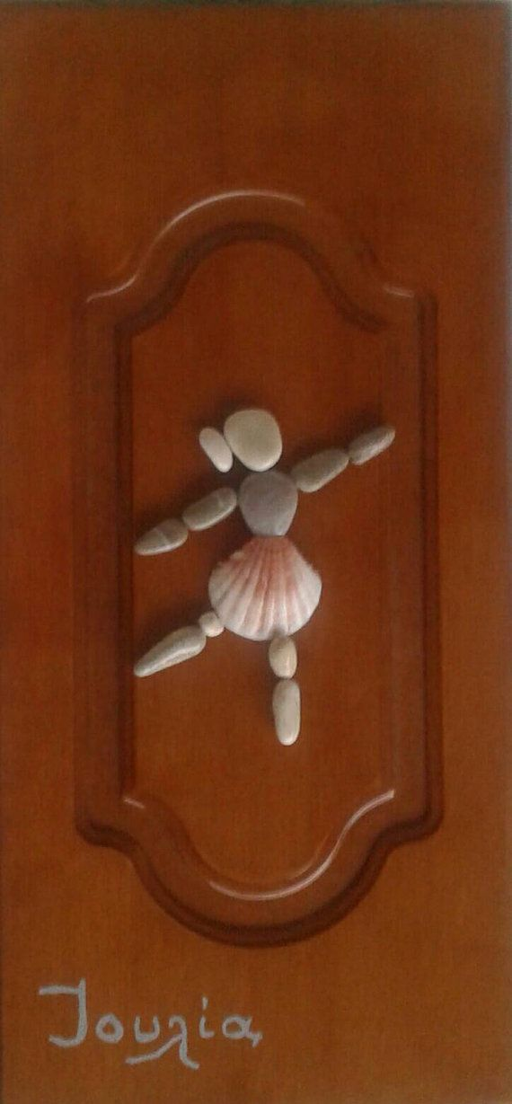 "20x41 cm ""The ballerina""  Pebble art  Unique Wall art Home decor Unique gift for…"