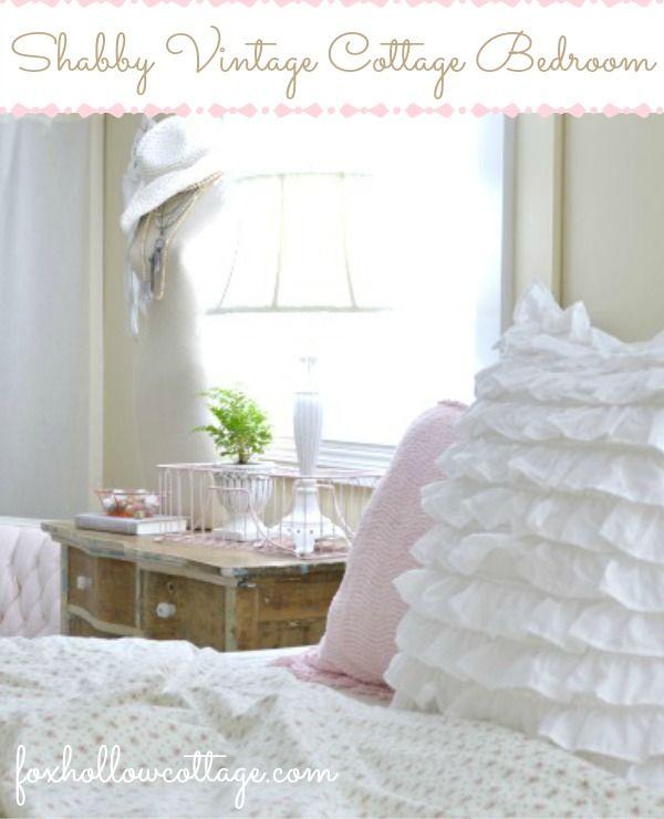 Shabby Vintage Cottage Bedroom - Makeover Reveal.