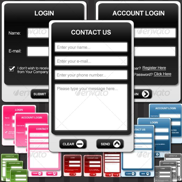 Stylish #Web #Forms - Forms Web Elements Download here:  https://graphicriver.net/item/stylish-web-forms/97678?ref=alena994