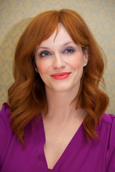 I capelli rossi ondulati di Christina Hendricks #hairstyle #redhair #gingerhair
