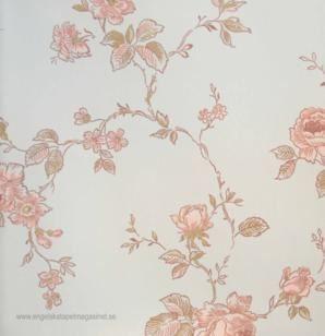 Lim och Handtryck Rosen Tapet