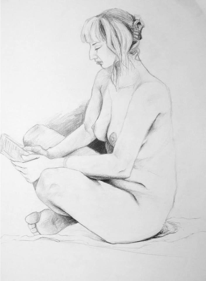 Nude by Natalia Bienek, pencil on paper