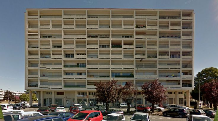 La Grand Font - Housing - #architecture #googlestreetview #googlemaps #googlestreet #france #angoulême #brutalism #modernism