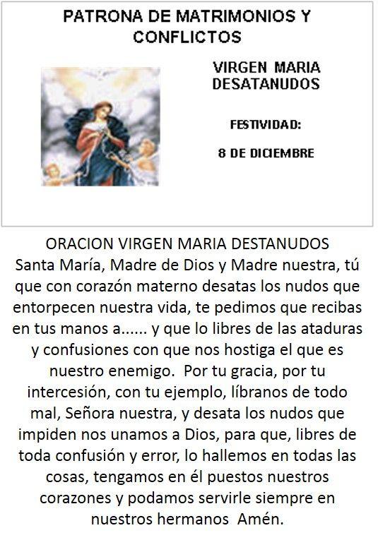 VIRGEN MARIA DESATANUDOS