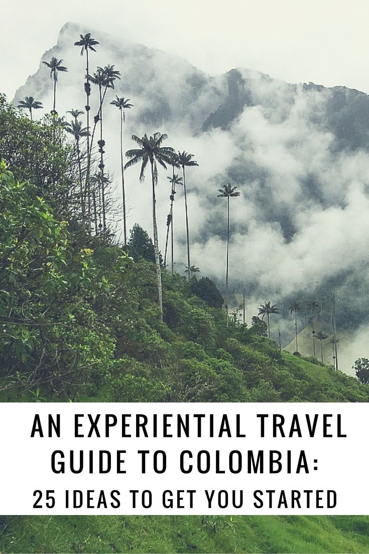 Planning travel to Colombia can be challenging because of the country's diversity. Here are 25 experiences ideas for your Colombia travel itinerary.