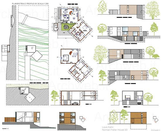 Louis Kahn Norman Fisher House 2D The Plan Pinterest