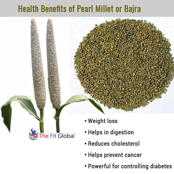 Health Benefits of Pearl Millet or Bajra #diabetes #weightloss #cancer #health #thefitglobal