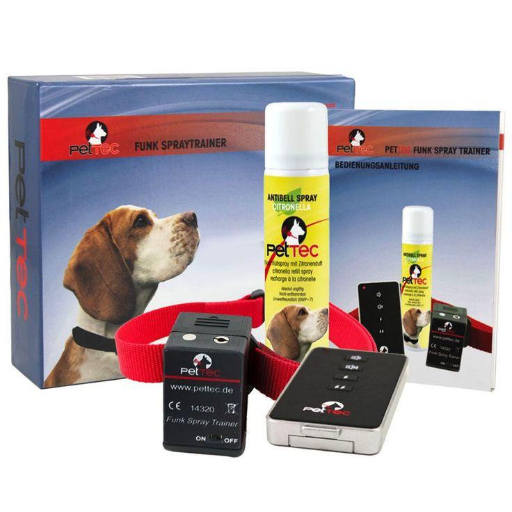 Animalerie  PetTec Funk Spray Trainer Citronella  collier de dressage pour chien avec spray  pile dorigine (alcaline 4LR44 6V)