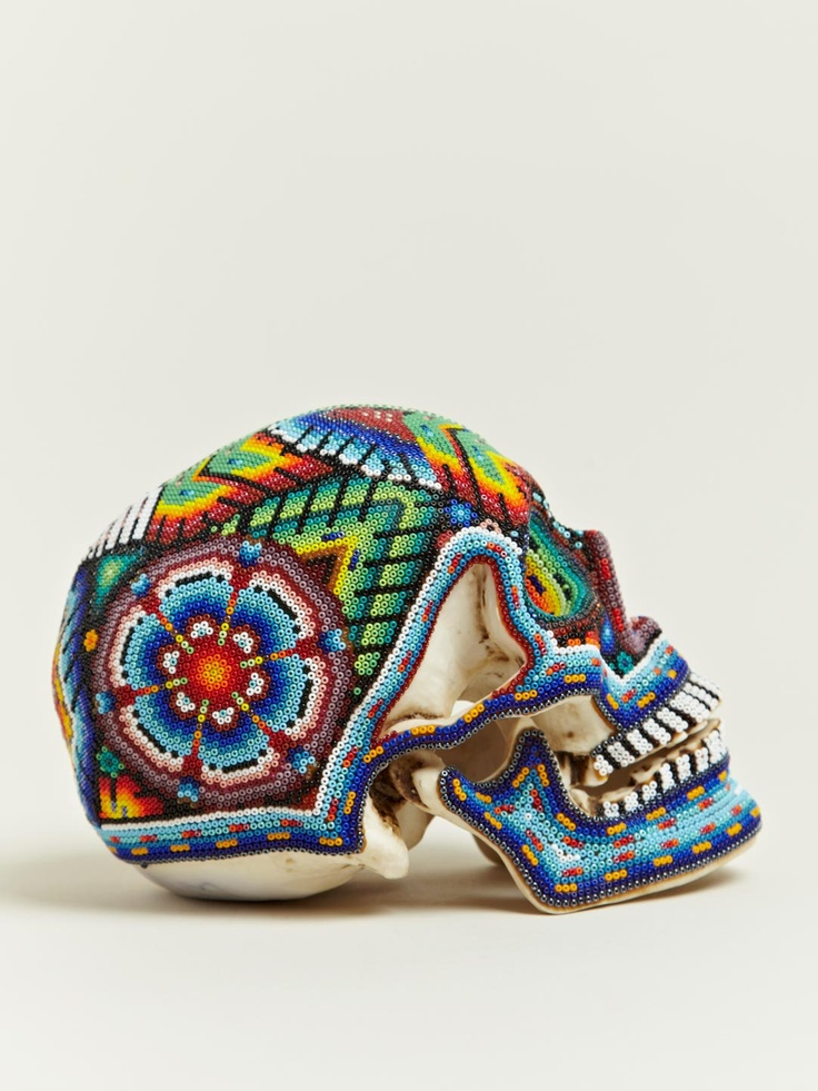 Our Exquisite Corpse Huichol Skull