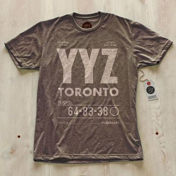 City tshirts with airport abbreviations. $25, available for Tokyo TKO, Boston BOS, Chicago ORD, London LON, Los Angeles LAX, Philadelphia PHI, Portland PDX, San Francisco SFO, Toronto YYZ, but not the ATL :( -MP