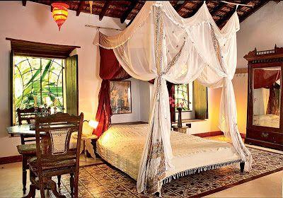 Decorações Indianas: Quartos com decoração indiana