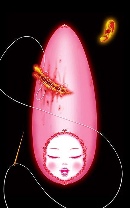 SISTERS #5 (2007)   8 X 13 cm  Image size  www.daliroll.com