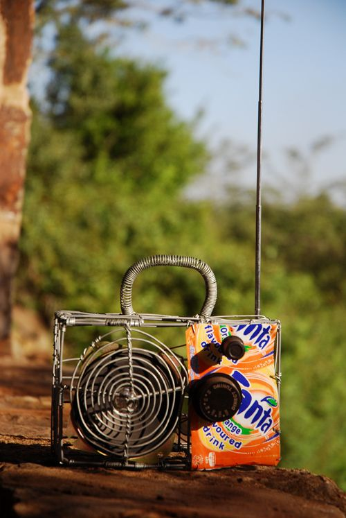 See-through wire radio - and it works!  bought on the street in Johannesburg, South Africa
