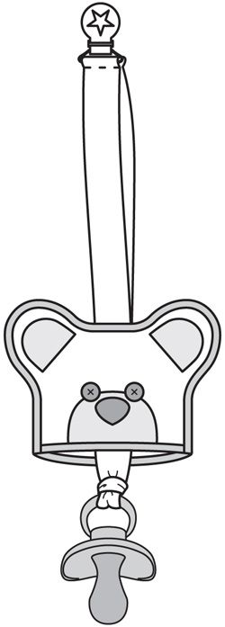 Burda    No Link. 2014/11 [134] - Ruban attache tétine avec cache en forme de nounours