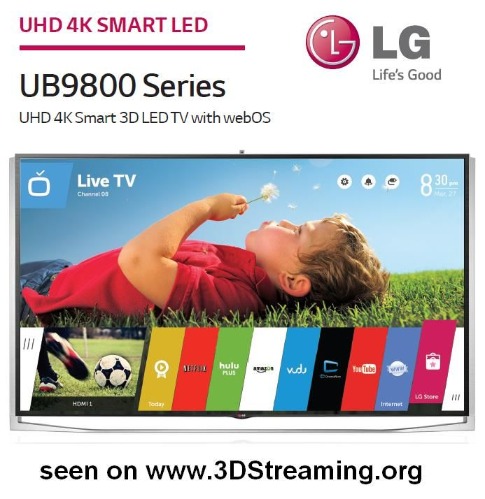 LG UB9800 4K series 3D Passive Glasses (1/1) - - STEREOSCOPY - 3DStreaming