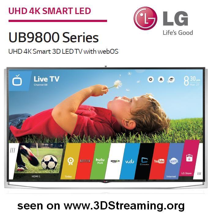 LG UB9800 4K series 3D Passive Glasses (1/1) - - STEREOSCOPY - 3DStreaming