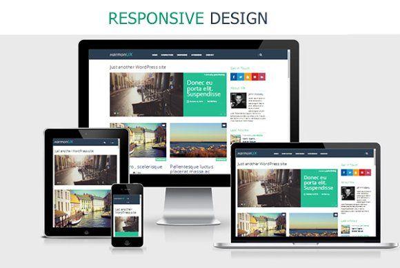 HarmonUX -  Responsive & UX-focused by rocksite.pro on @creativemarket