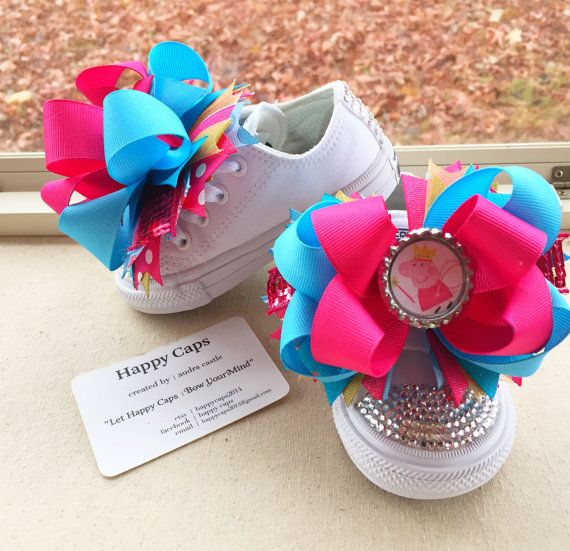 PEPPA PIG Shoes Blinged Converse Peppa Pig by HappyCaps2014