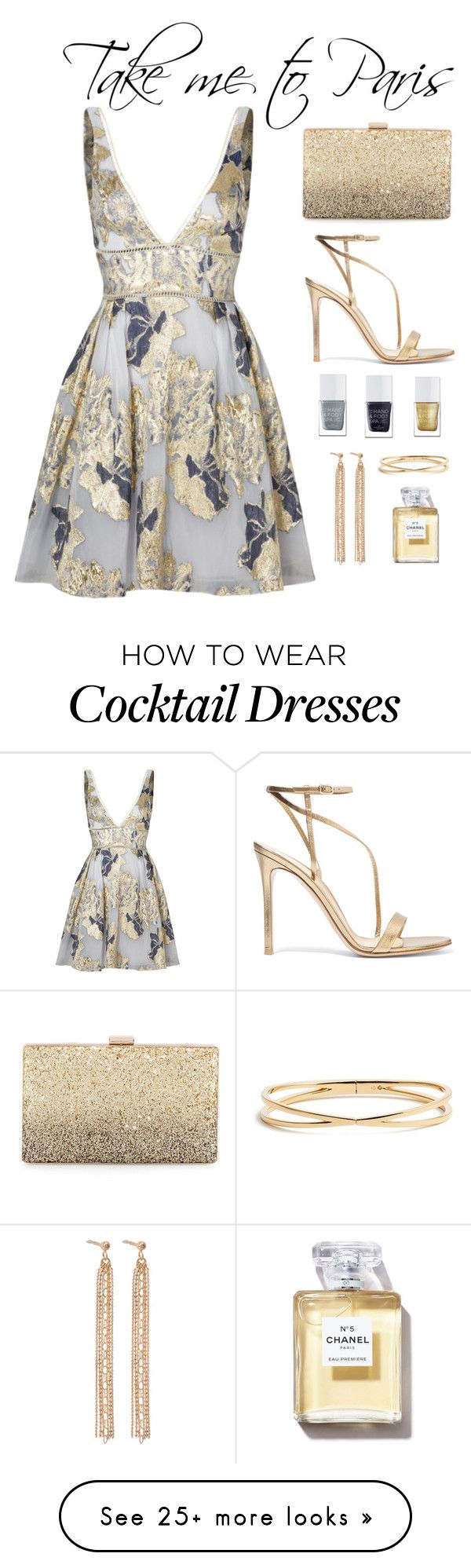 """Untitled #10"" by kell-a on Polyvore featuring Notte by Marchesa, Neiman Marcus, Gianvito Rossi, The Hand & Foot Spa, Aurélie Bidermann and Nadri"