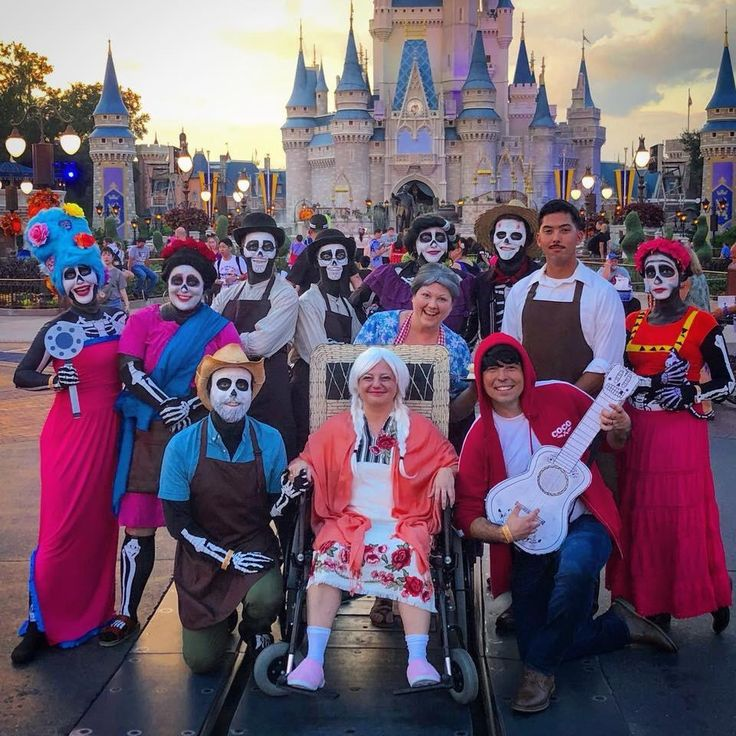 My friends at Mickeys Not So Scary Halloween Party coco