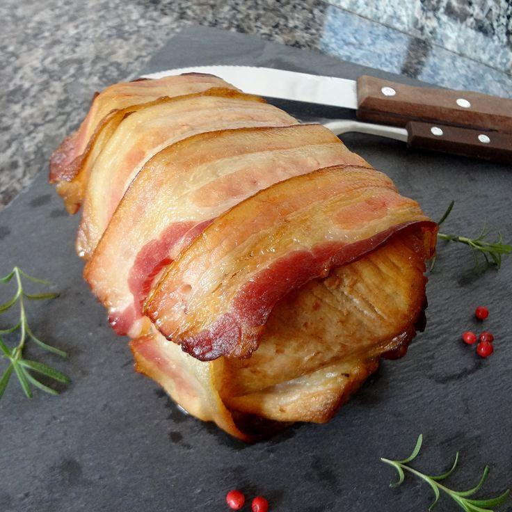 Lombo de Porco Assado com Bacon