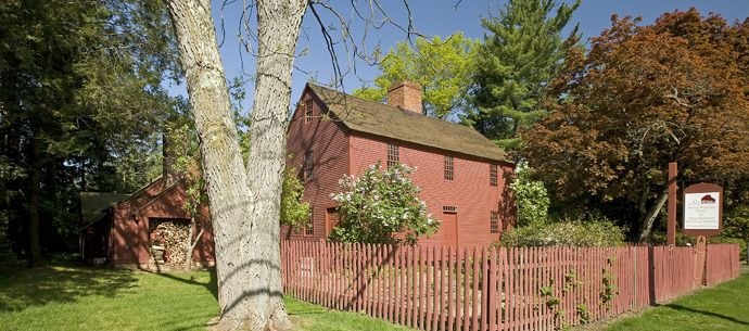 Noah Webster House in West Hartford, CT. Noah was born in this house. He lived here until he was 16 and left for Yale College.