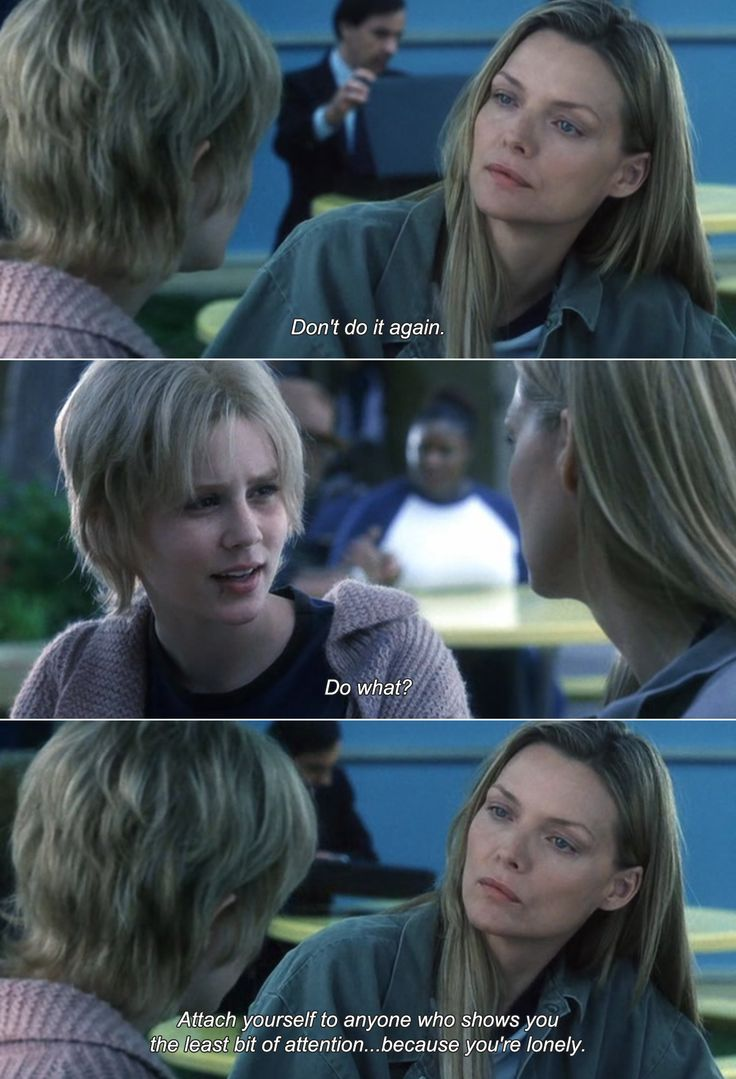 ― White Oleander (2002)Ingrid: Don't do it again. Astrid: Do what? Ingrid: Attach yourself to anyone who shows you the least bit of attention because you're lonely.