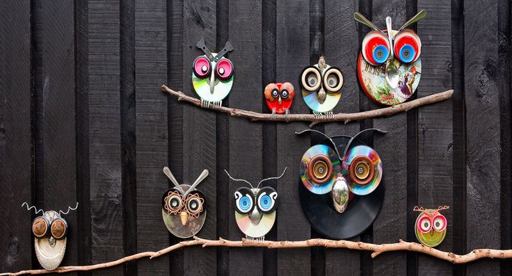 How to make tin owls for the garden