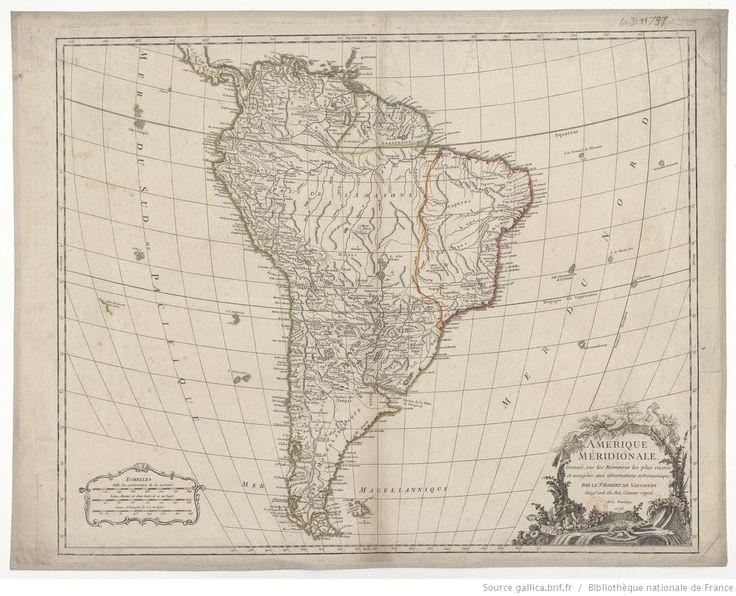 Amérique méridionale / par le Sr Robert de Vaugondy, ...