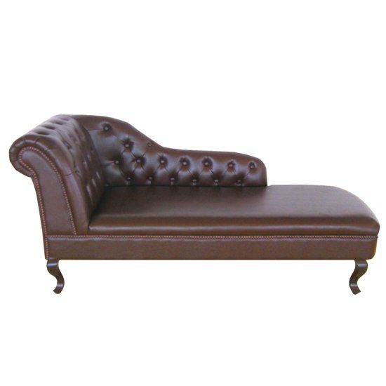 Vintage Chaise | Antique Genuine Leather Chaise Lounge (Right Armrest),  2401985 .