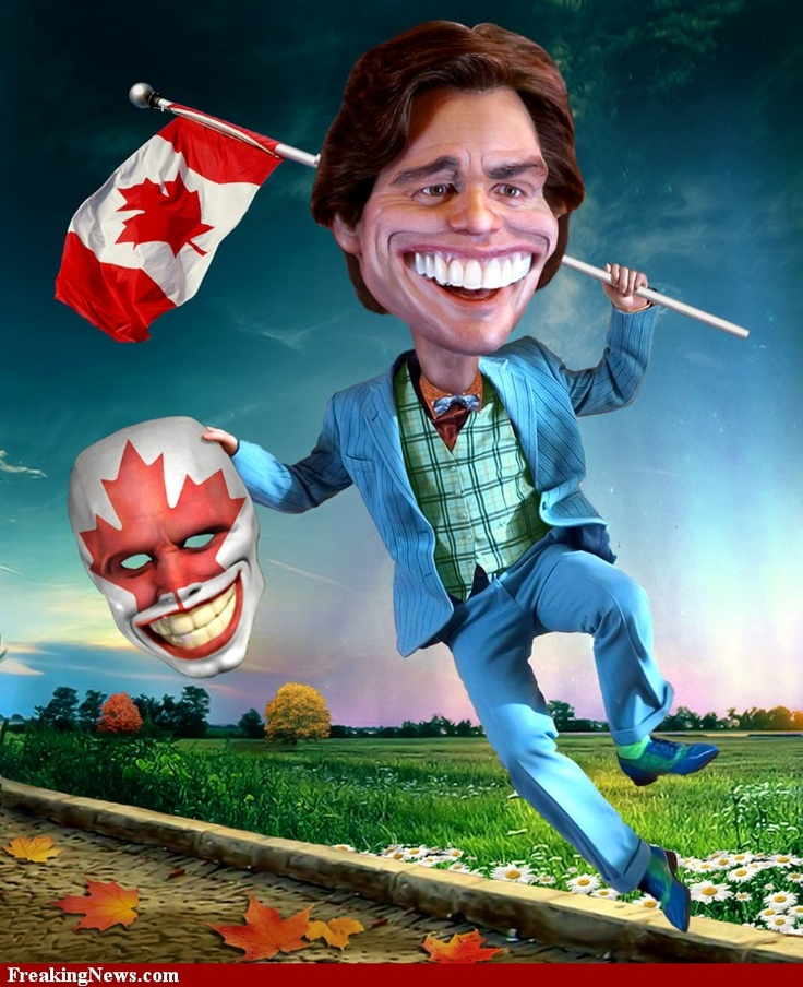 Jim Carrey with a Canadian Mask