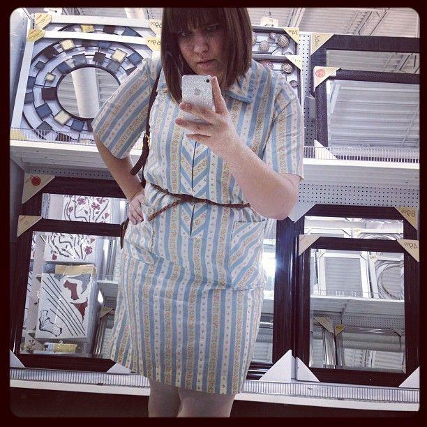 #Vintage dress from somewhere in Kensington Market. #whatiwore #dailyoutfit #ootd