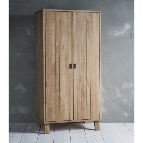 Gallery Hudson Kielder Wardrobe In Oak Wood