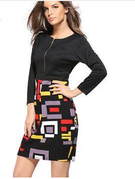 Dámské strečové pouzdrové šaty pod kolena s geometrickými tvary – VELIKOST XXL Na tento produkt se vztahuje nejen zajímavá sleva, ale také poštovné zdarma! Využij této výhodné nabídky a ušetři na poštovném, stejně jako to …