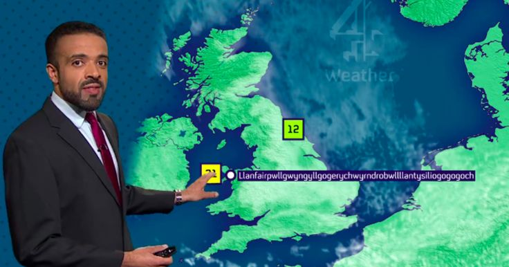 There's probably no word too hard for this guy to pronounce.  Liam Dutton, a weatherman for British TV station Channel 4 News casually nailed Llanfairpwllgwyngyllgogerychwyrndrobwllllantysiliogogogoch
