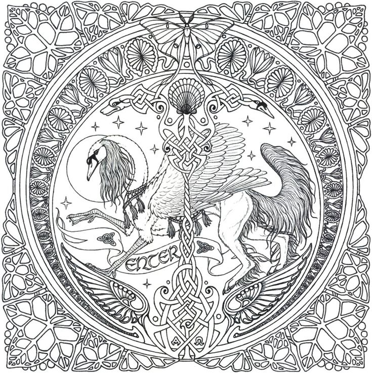 Printable Unicorn Coloring Pages For Adults : 157 best images about colouring animals on pinterest