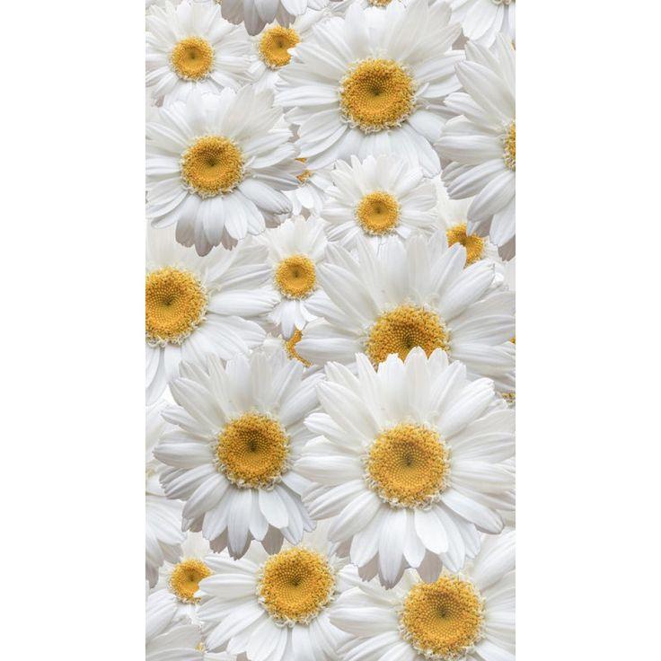 Fehér margaréta virágos készfüggöny #függöny #margaréta #virág #kamilla #lakberendezés