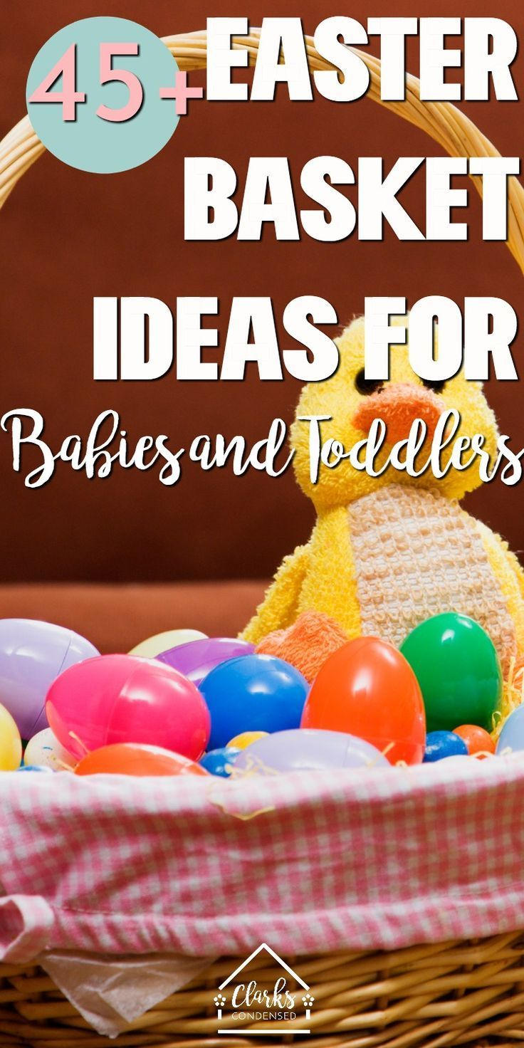 45 Simple Easter Basket Ideas For Babies And Toddlers Simple Easter Baskets Baby Easter Basket Easter Baskets For Toddlers