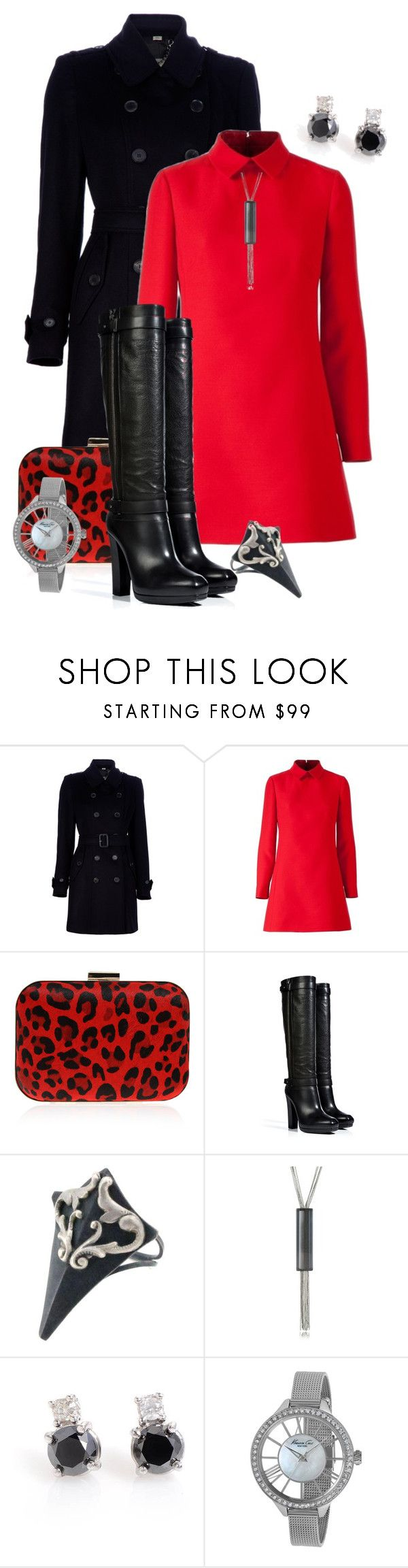 """""""Untitled #97"""" by darksyngr ❤ liked on Polyvore featuring Burberry, Carvela Kurt Geiger, Belstaff, Sian Bostwick Jewellery, MM6 Maison Margiela and Kenneth Cole"""