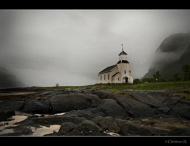 Lofoten, little church on Gimsoy by crispin52, via Flickr