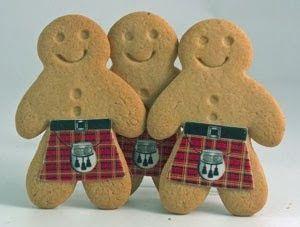 Tartan gingerbread men (I thought of you Jane!)