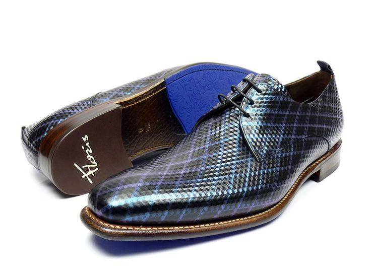 Floris van Bommel 14304 veter schoenen - zwart / combi