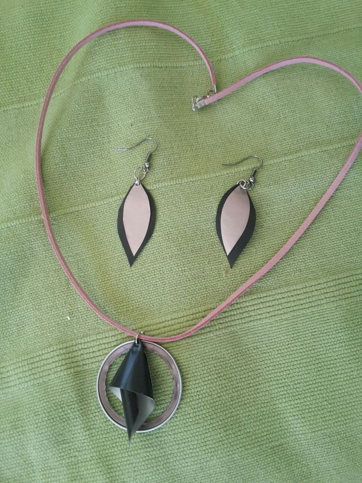 Nespresso capsule necklace and earrings