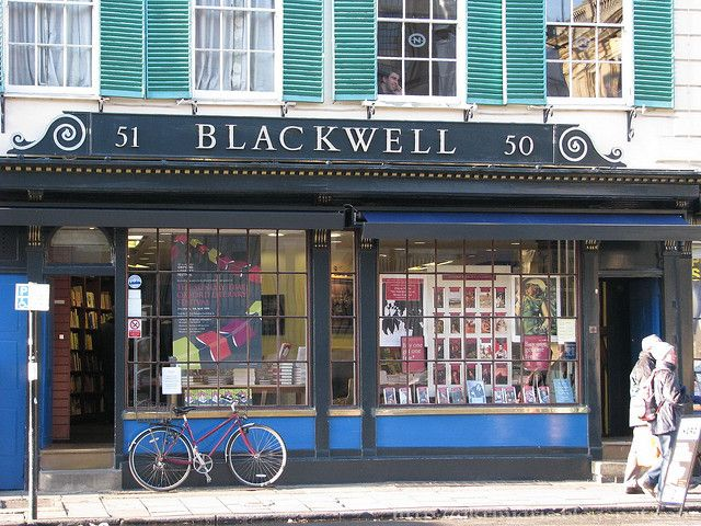 Blackwell's bookstore is an institution in Oxford. It's not just a regular bookstore - it has the largest single room devoted to book sales in all of Europe (the 10,000 sq. ft. Norrington Room). In order to create such a large space in a small city, Blackwell's excavated underneath Trinity College's gardens. Blackwell's sells both new and second-hand books, and has a cafe.