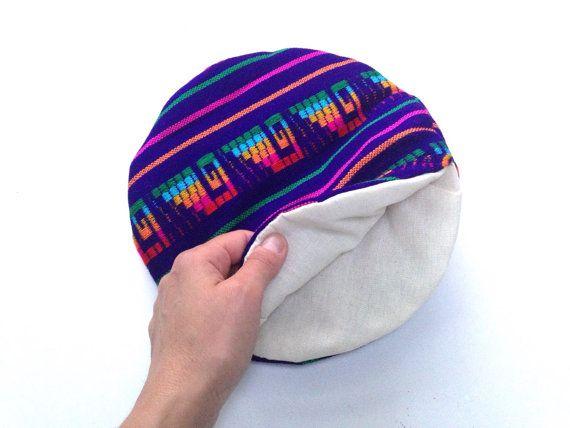Lila Tortilla wärmer - Tortillero - Tortilla Keeper - Brot Keeper - mexikanischen Stoff - ethnischen Haushaltswaren-Küche