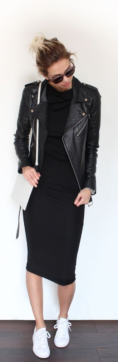 Layer your jacket over your favorite dress! A little edgy and sexy, this look is perfect for happy hour, a concert or date night with your cutie! Where would you sport this style this season?