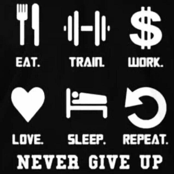 Eat train work love sleep repeat fitness motivation