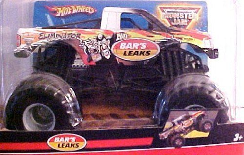 Hot Wheels Monster Jam Bar's Leaks Eliminator Monster Truck, 1:24 scale by Mattel. $22.46. Bar's Leaks Eliminator. 1:24 scale. Monster Truck. Hot Wheels Monster Jam. Hot Wheels Monster Jam Bar's Leaks Eliminator Monster Truck, 1:24 scale