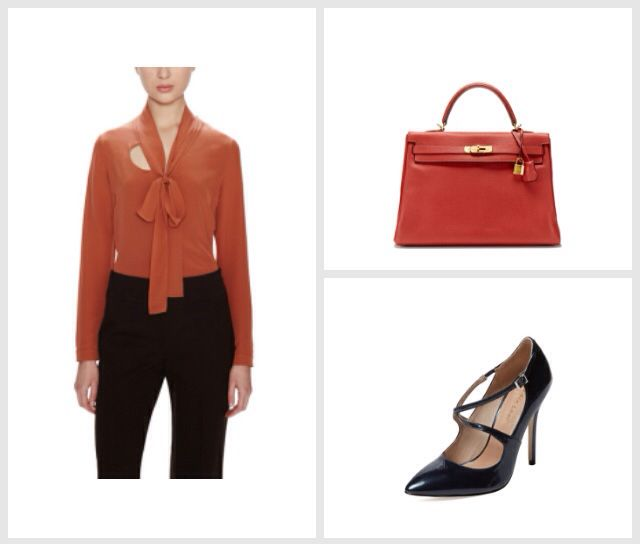 Some color to office look  #stylematicapp